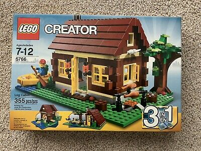 NEW SEALED LEGO 5766 CREATOR LOG CABIN HOME HOUSE 3 IN ONE BUILD