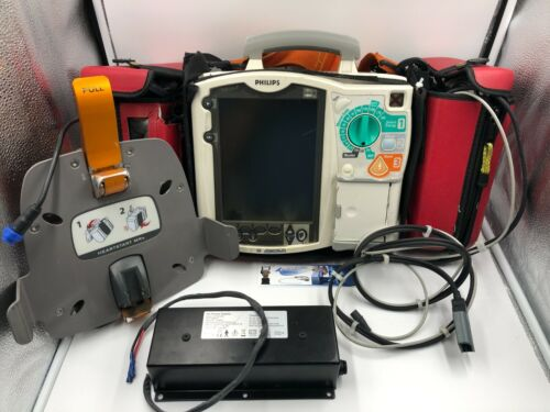 PHILIPS HEARTSTART MRx 12 Lead QCPR ECG SpO2 NIBP CO2 Temp IBP AED Monitor Defib