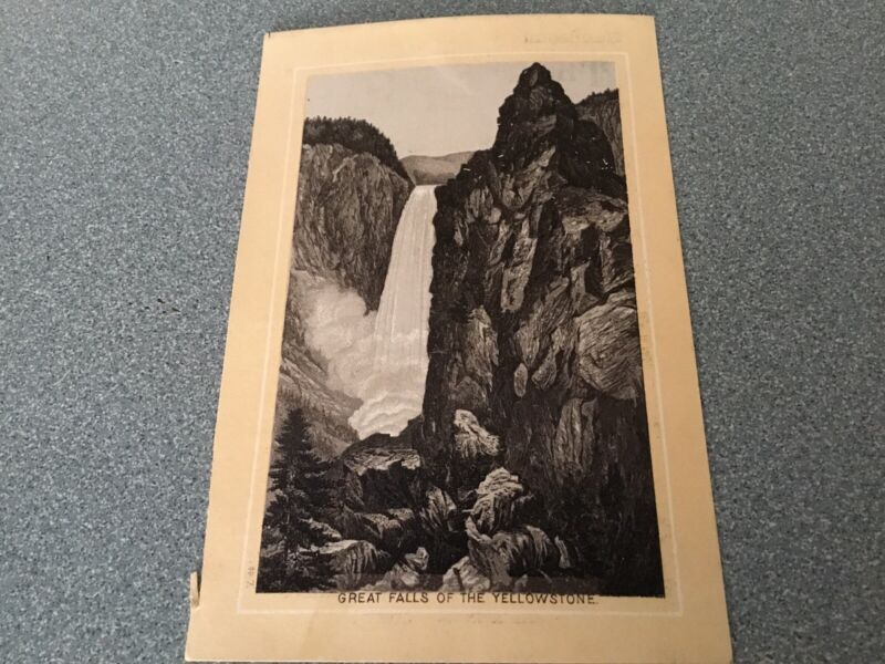 JERSEY COFFEE VICTORIAN TRADE CARD GREAT FALLS OF THE YELLOWSTONE