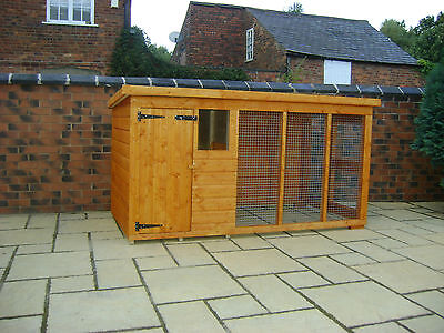 DOG KENNEL AND RUN 8FT X 4FT
