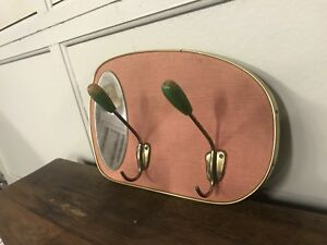 Beautiful Vintage Mid Century Hallway Hanger Mirror