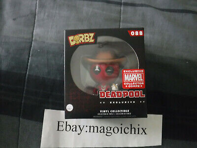 Funko Pop Dorbz Vinyl Deadpool Cowboy Marvel Collector Corps Exclusive #088 New