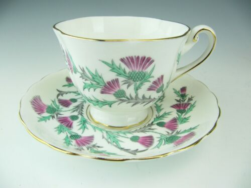 "Royal Chelsea ""Scottish Thistle"" Cup and Saucer"