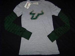 Pressbox-Womens-University-of-South-Florida-USF-Bulls-Long-Sleeve-Shirt-NWT