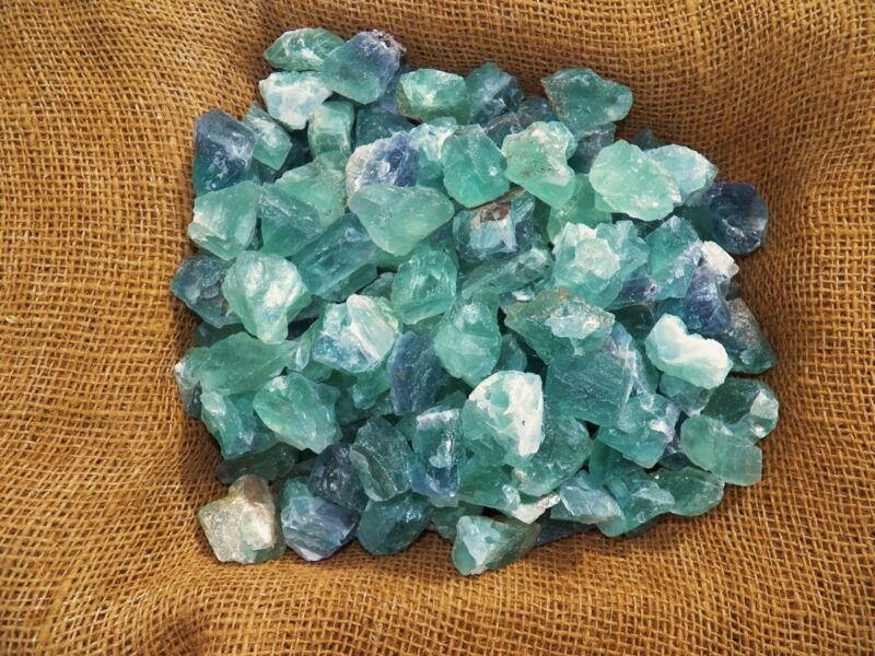 2000 Carat Lots of Green Fluorite Rough - Plus a FREE Faceted Gemstone
