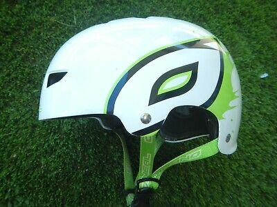 Fahrradhelm ONeal MTB Gr. L weiß / grün Kopfumfang etwa 59 cm...