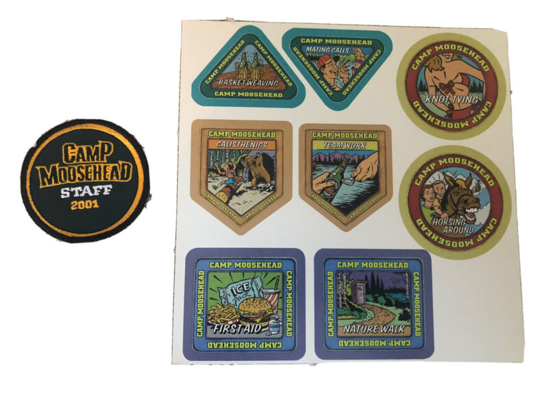 Rare Camp Moosehead beer promotional pack stickers patch 2001 Canada