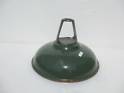Vintage Enamel Light Shade Old Industrial Factory Antique Art Deco Iron 11