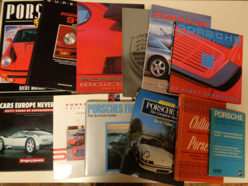 Porsche Automobile Book Collection - 11 Different Interesting Instant Library