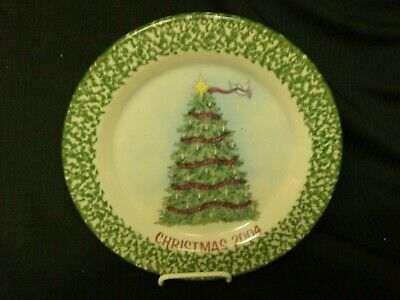 WORKSHOPS OF GERALD HENN CHRISTMAS TREE PLATE 2004 GREEN TRIM