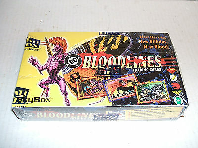 DC COMICS BLOODLINES TRADING CARDS FACTORY SEALED WAX BOX 1993 SKYBOX 36 PACKS