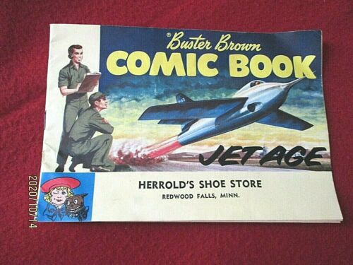 """BUSTER BROWN COMIC BOOK """"JET AGE"""" Advertising Giveaway for Buster Brown Shoes"""