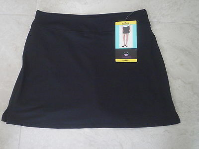 TRANQUILITY COLORADO CLOTHING YOGA GOLF SKORT SKIRT NEW SOLID BLACK Size SMALL