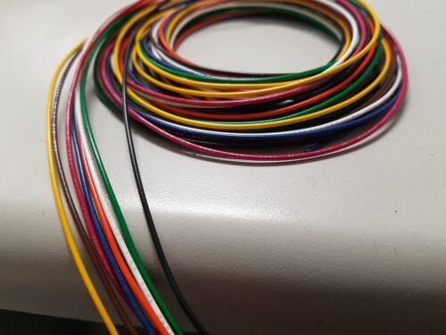 28 AWG Gauge Stranded Hook Up Wire Kit 5 ft Ea 8 Color UL1007 300 Volt