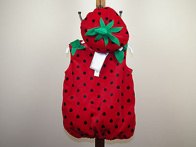 Koala Kids Strawberry Halloween Costume Girls Size 6/9M, 12/18M **NEW W/ TAGS**