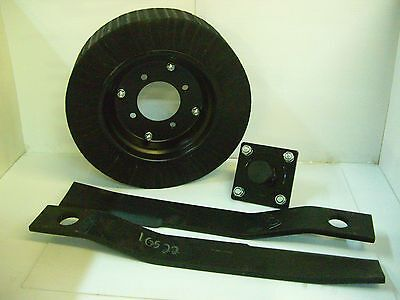 Tail Wheel Hub 2 - 4 Rotary Cutter Blades 17 14 New Brush Hog Replacement