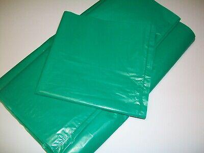 50 x GREEN Coloured Refuse Sacks, Rubbish Waste Bin Liner Bags 18 x 29 x 39