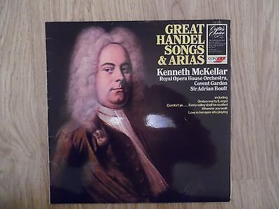 GREAT HANDEL SONGS & ARIAS KENNETH MCKELLAR VINYL LP
