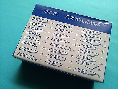 100 Pcs Surgical Sterile Scalpel Blades 15c Dental Ent Instruments