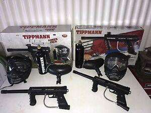 2 Tippman 98 paintball markers