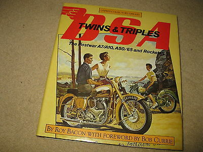 BSA Twins & Triples A7/10 A50/65 - Roy Bacon - Classic Motorcycle Book Manual