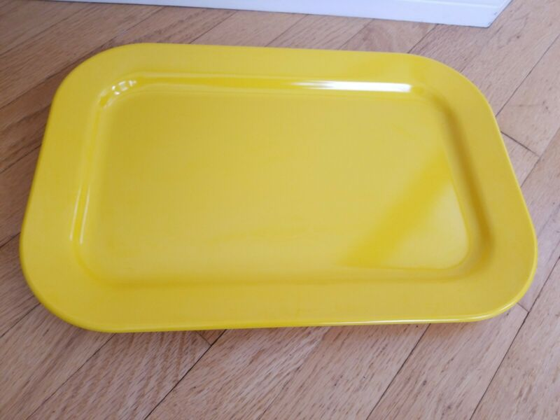 Vintage Yellow Texas Ware Large Serving Tray