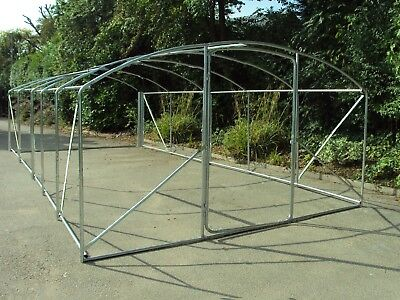 Shipped 1/5  Frame Only 6m x 3.5m Poly Tunnel Polytunnel Greenhouse Green House