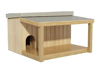 Dog House Plans DIY Large Outdoor Wooden Pet Kennel Shelter with Covered Porch