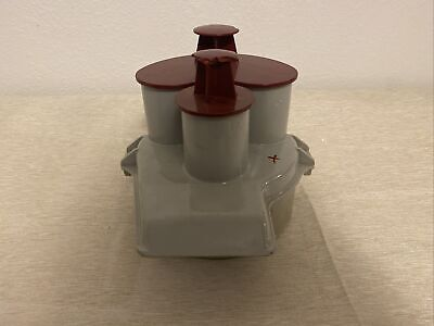 Bowl Top Lid W Inserts Only Handle Chipped Robot Coupe R2 Food Processor 3qt