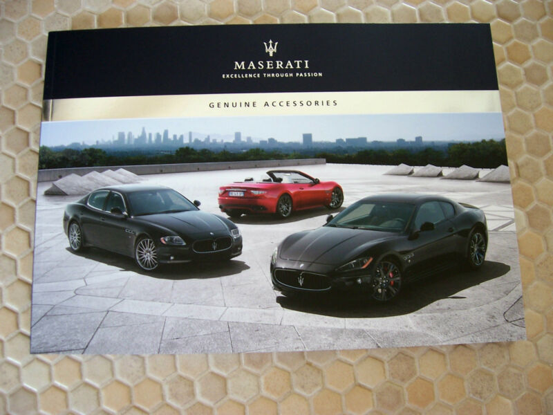 MASERATI OFFICIAL ACCESSORIES PRESTIGE SALES BROCHURE 2010-12 USA EDITION