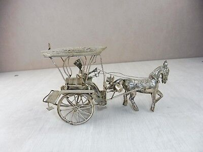 Antique Horse Carriage, Chinese/ China, Silver, Handmade/ Craft,