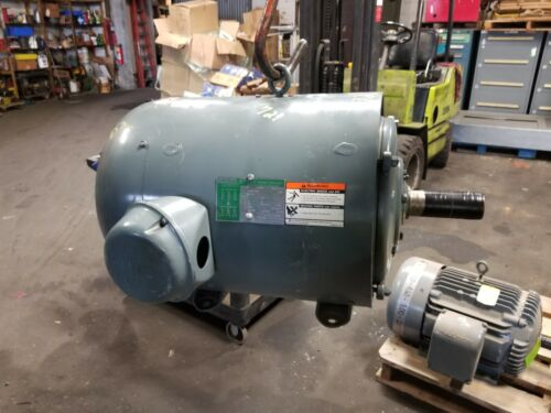 LINCOLN 25 HP ELECTRIC AC MOTOR 230/460 VAC 1760 RPM 284T FRAME 3 PHASE
