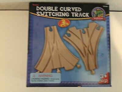 Thomas/Maxim-Double Curved Switching wood track (2 pieces) New in box- free ship