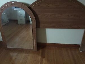 Mirror and matching headboard