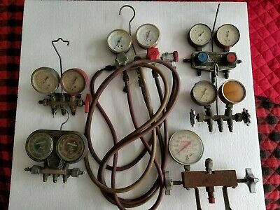 Large Lot Of Manifold Gauge Sets Ac Air Conditioner Robinair Imperial Others