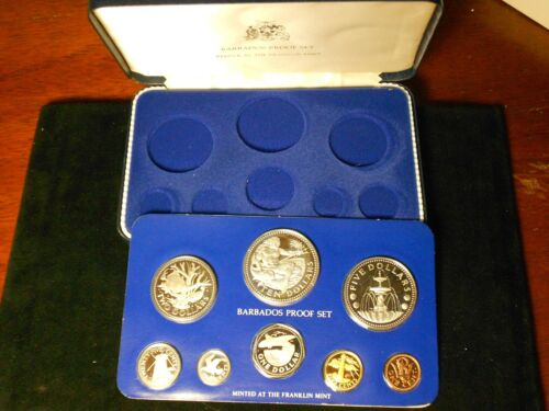 1978 Barbados 8 Coin Proof set with box Free Shipping