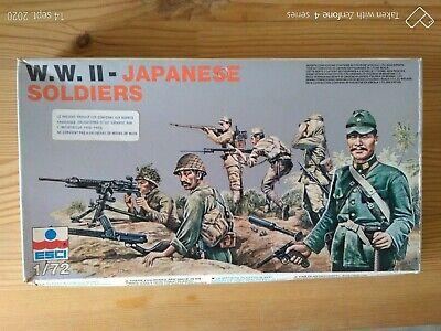 Niños Soldados de Plástico ESCI 1/72è Japanese Soldiers WW2 De Grupo