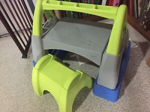Child's desk with stool