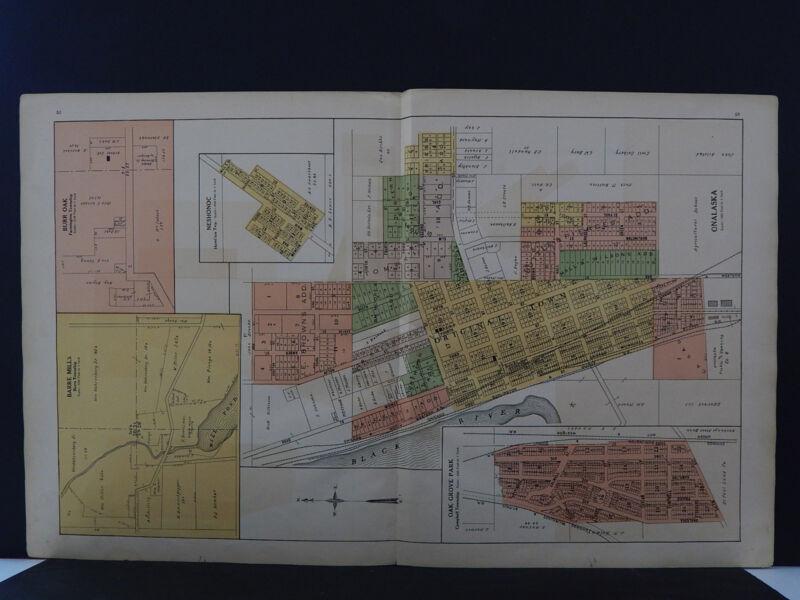 Wisconsin, La Crosse County Map 1913, City of Onalaska Q3#04