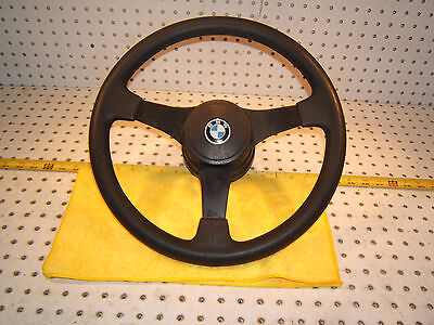 BMW Early E 21 320 i E 10 2002 PETRI BLACK steering Genuine BMW 1 Wheel,Horn Pad