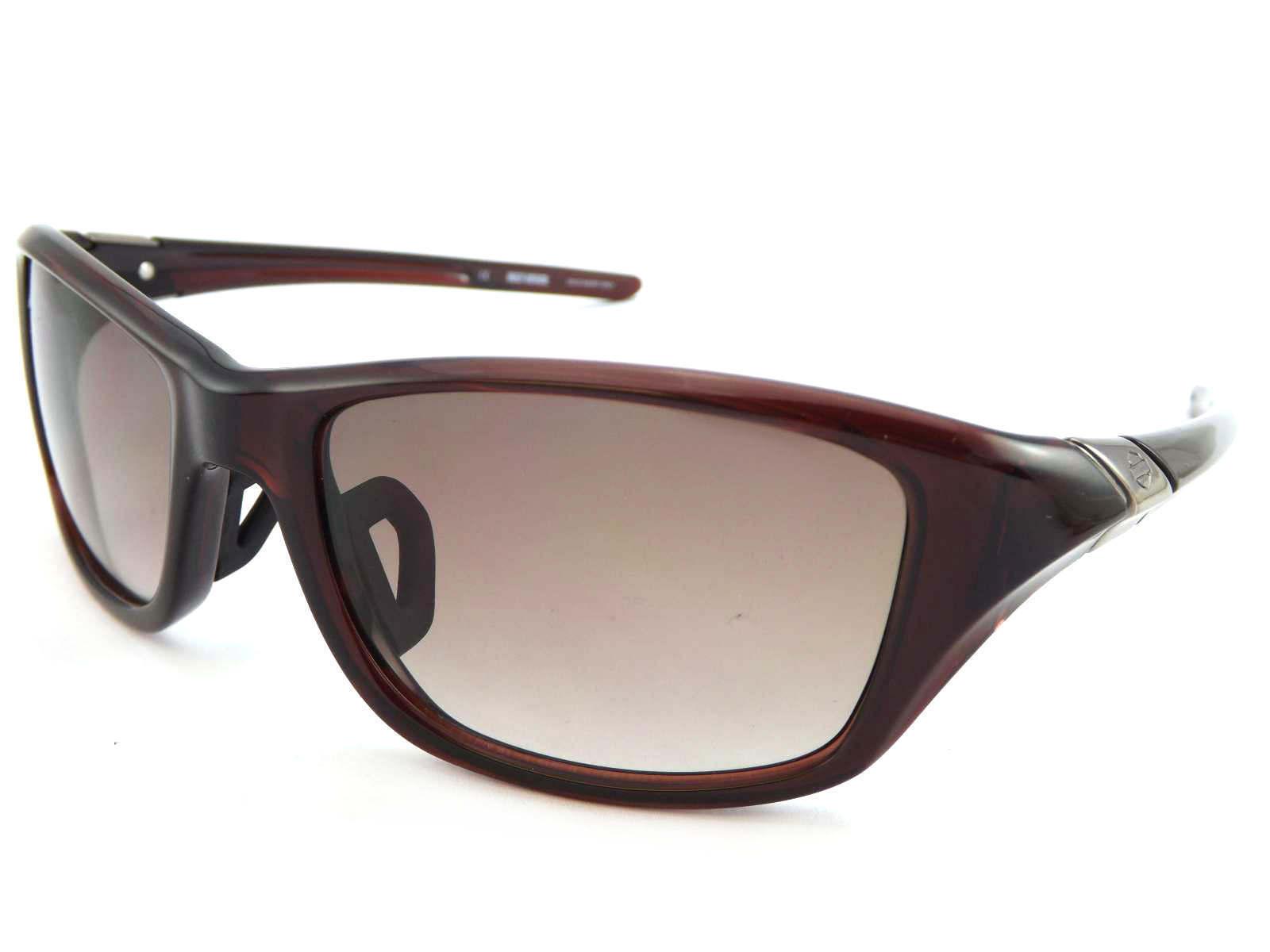 Harley Davidson Shiny Brown Polarised Wraparound Style Sunglasses with Case