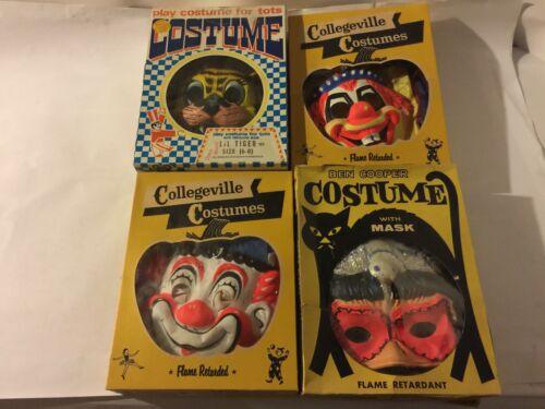 """""""HALLOWEEN"""" VINTAGE BOXED COSTUMES : BEN COOPER- COLLEGEVILLE 1950"""