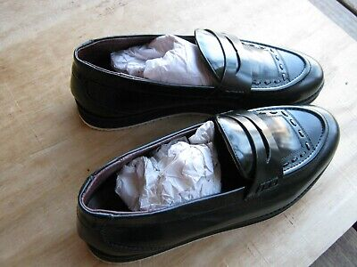 New House Of Hounds Bowie Loafers In Black Hi Shine Men Dress Shoes  Size UK 10