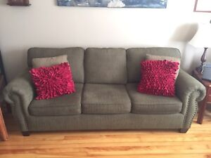 Custom Canadian made couch and matching chair.