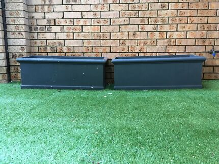 Two large quality planter boxes