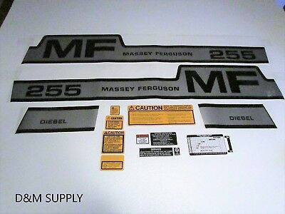 Decal Set With Caution Kit With Speed Chart To Fit Massey Ferguson 255 1215-1028