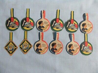 12 French WW1  journee badges Comite National De L'enfrance etc.
