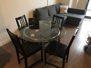 - - Dining table  - - - Couch - - - Like new Mattress & Frame -