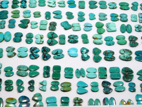 20Pair Top Quality Natural Tibetan Turquoise Matched Pair Cabochon Wholesale Lot