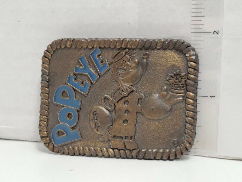 Vintage Popeye Belt Buckle Metal
